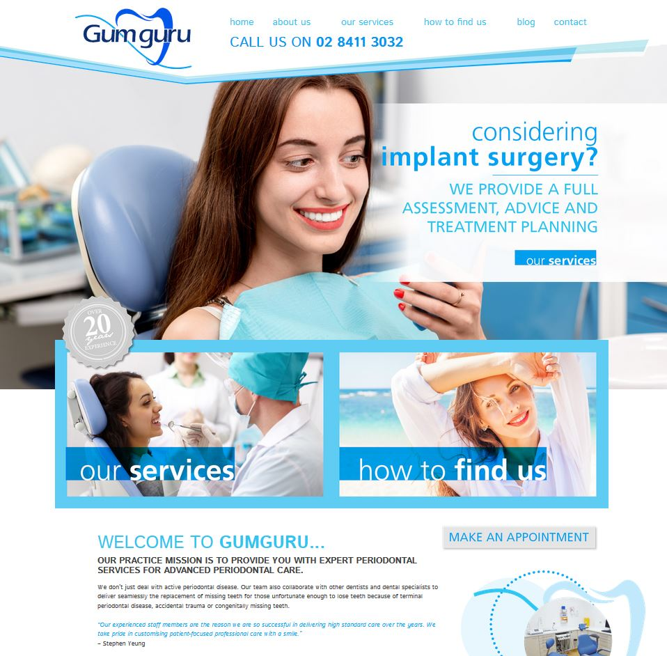 gum guru dentist WEBSITE