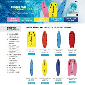 Demon surfboards shop