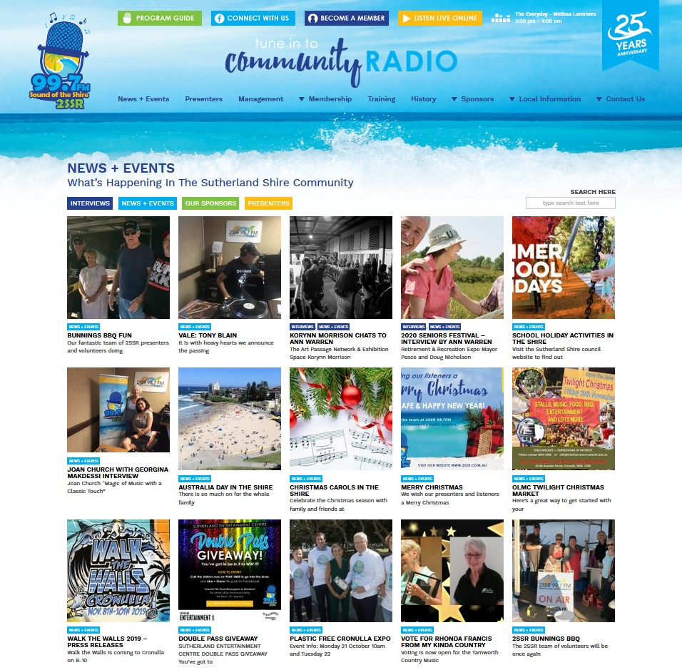 2SSR Sutherland Shire Radio website