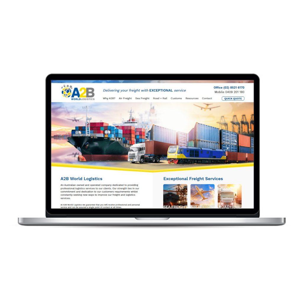 A2B World Logistics website