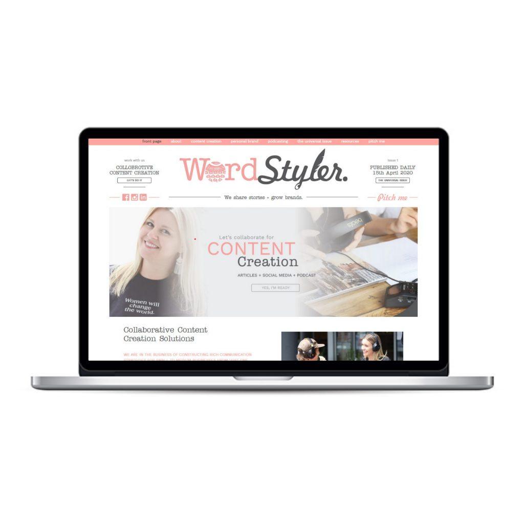 WordStyler custom website and blog