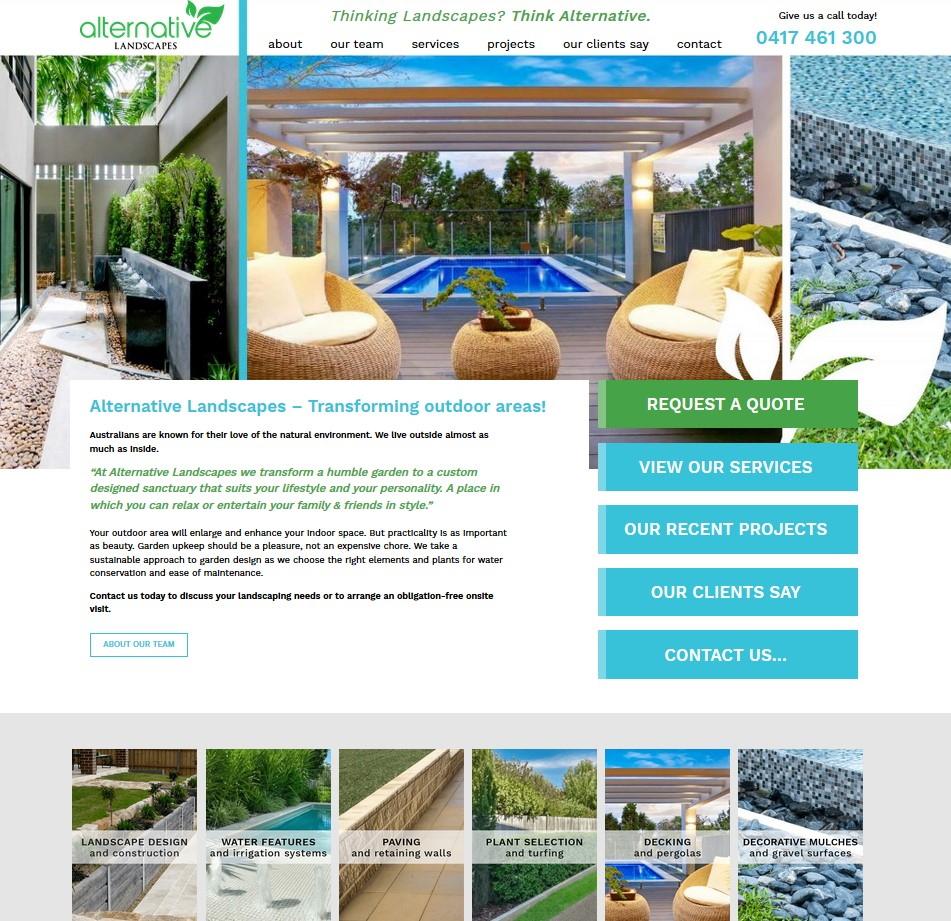 Alternative Landscape website