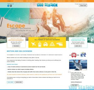 Escape Travel Sickness custom website