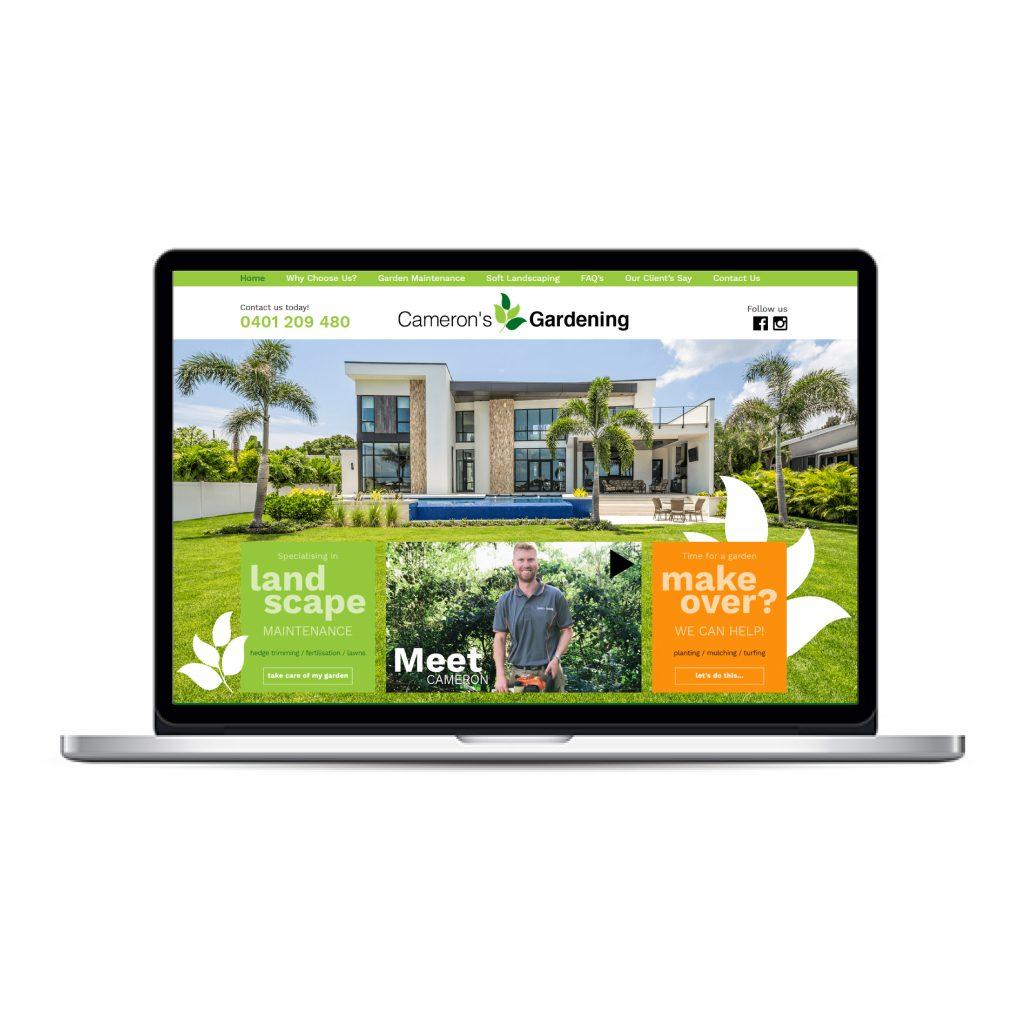 Cameron's gardening custom website