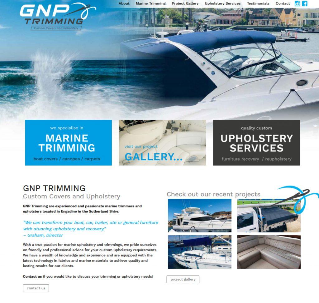 GNP Trimming custom website design